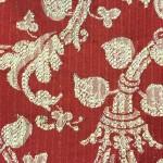 cotone rigato con fantasia floreale panna