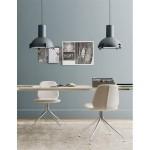 Lampada in alluminio e vetro