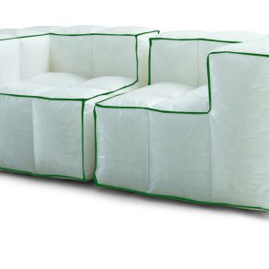 Divano via lattea imbottitura in cuscinetti termogonfiati rivestimento in polipropilene