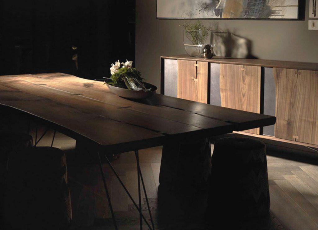 Tavolo Arte Brotto legno massello naturale da m- group Chieti Pescara