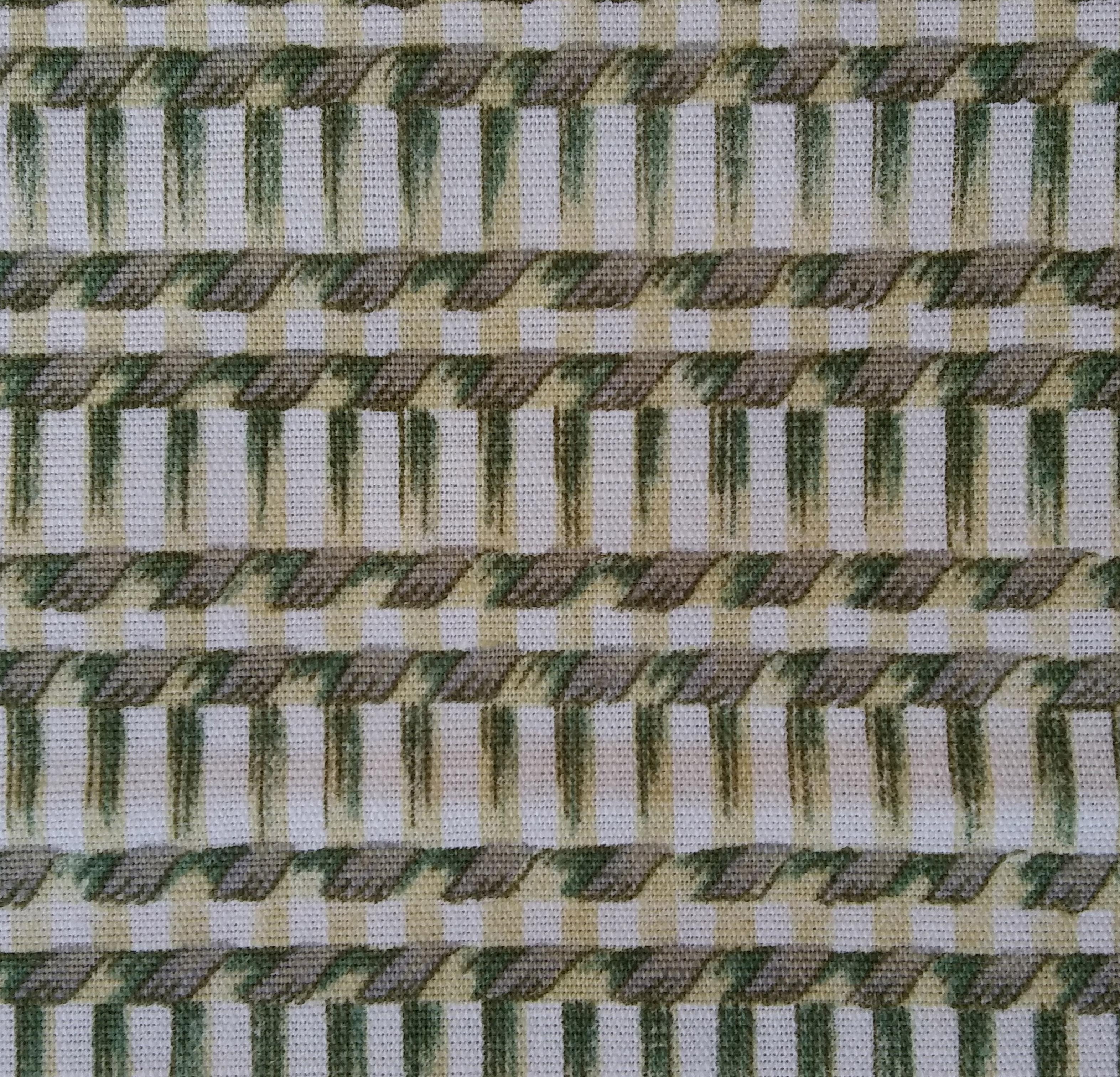 tessuto geometrico cotone stampato