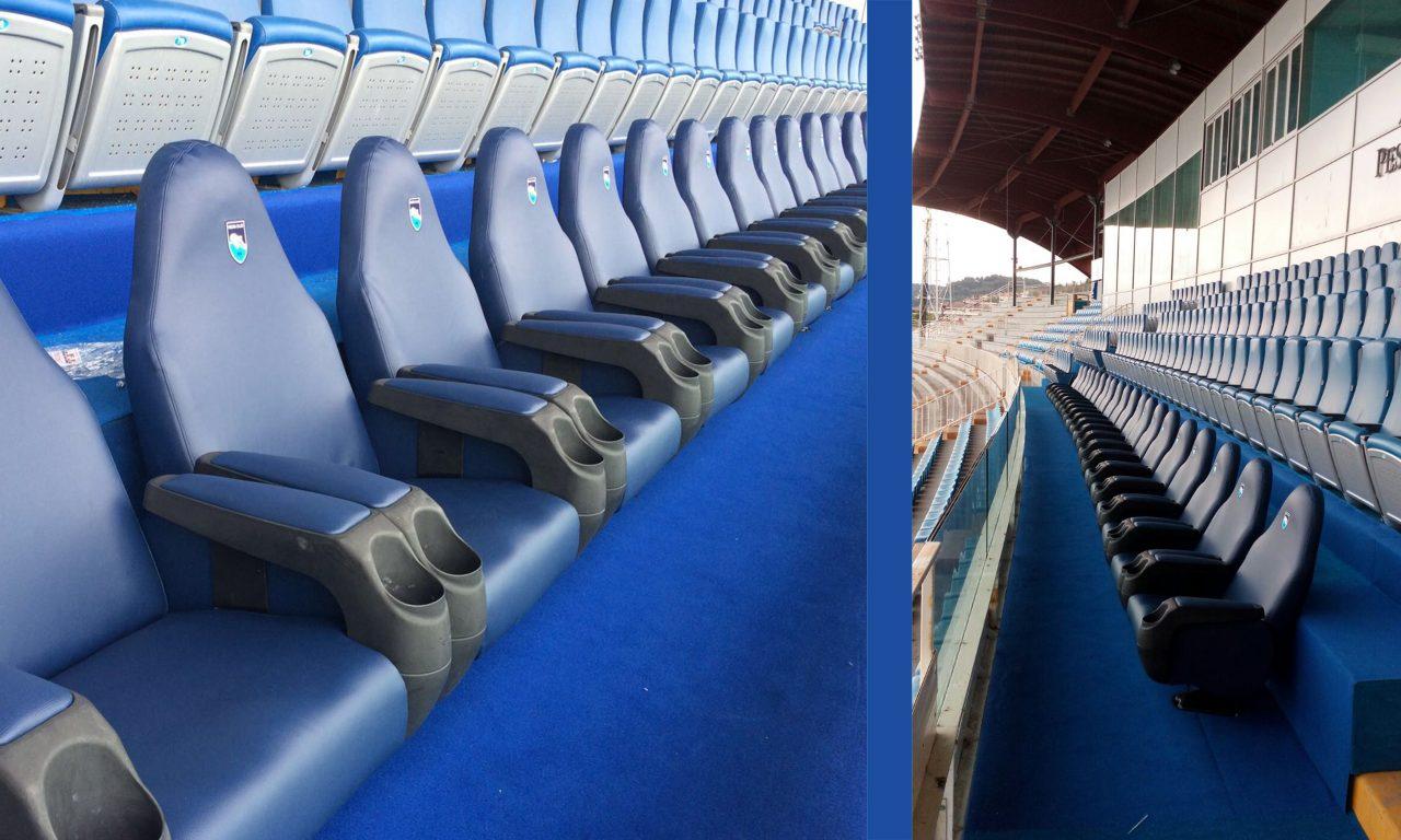 Poltrone su misura Pescara calcio